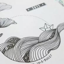一根针管笔,一个好看的唯美图案 针管笔手绘插画教程