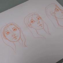 动漫人物手绘新手视频教程,几分钟学会如何画好人物的面部造型!