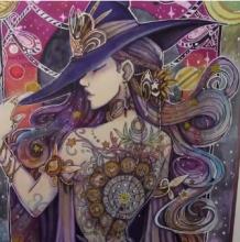 超美星座女巫水彩手绘插画视频教程,心动了。