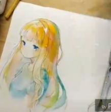 清纯又可爱的小女生纯美水彩手绘教程