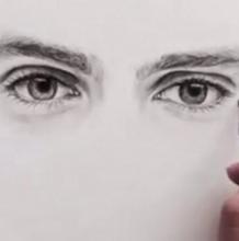 素描深邃而有神的眼睛绘画过程视频步骤教程 看完也不难
