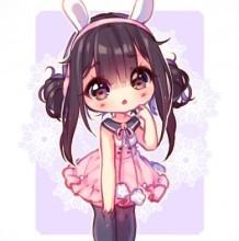 【视频】可爱Q版小萝莉SAI板绘视频教程 兔耳短裙黑丝小女生大触教你画