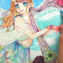 【视频】天使与恶魔马克笔动漫插画手绘视频教程上色过程演示