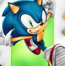 【视频】可爱的刺猬索尼克卡通形象克马克笔上色视频手绘教程