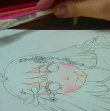 【视频】女生动漫人物的脸部彩铅怎么上色?简单的脸部彩铅上色教程