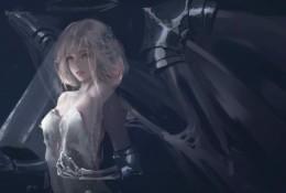 【视频】大触PS教你画魔幻风少女插画 披着婚纱的天使还是恶魔 带翅膀