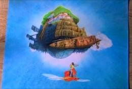 【视频】宫崎骏天空之城彩铅手绘视频教程 天空之城怎么画 悬浮在空中的城堡