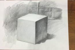 【视频】正立方体素描怎么画?简单的正方形立方体的素描画法手绘视频教程