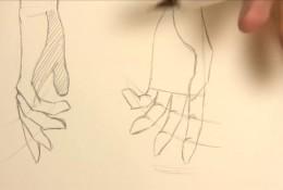 【视频】动漫插画中人物的手怎么画 常见角度姿势手部绘画视频教程演示