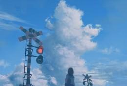 【美图】表现孤独的唯美插画图片 二次元女生背影插画作品新手