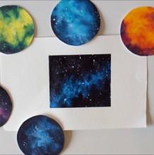 【视频】简单而唯美的星空图手绘视频教程 好看的星空画法视频教程