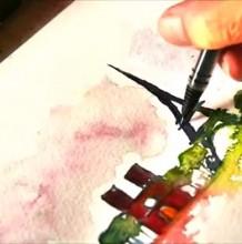 【视频】世界知名建筑水彩速涂手绘视频教程 简单水彩风景建筑画