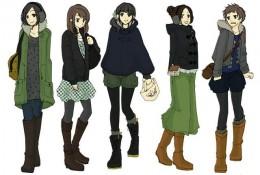 女生日常冬季服饰的动漫插画图片 很多好看的衣服哦