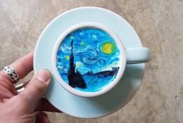 超美的咖啡拉花艺术作品图片 绘画造型很强 比画的都好