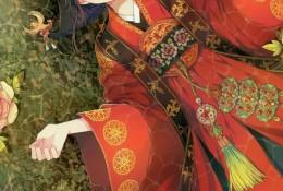 唯美古风新娘子插画图片 中国传统古风女子新娘婚纱插画美图