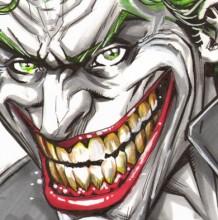 【视频】DC经典反派小丑马克笔手绘视频教程 DC小丑的画法 怎么画