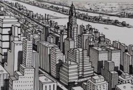 【视频】中性笔简笔画出整个城市风貌手绘视频 简单画出城市建筑的方法
