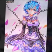 【视频】动漫ZERO人物彩铅手绘视频教程 动漫女生与枷锁画法