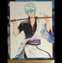 【视频】动漫画银魂坂田银时马克笔手绘上色视频教程 银魂的画法 怎么画教程