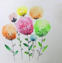 【视频】非常简单的花朵水彩手绘视频教程 简单小清新的花朵水彩怎么画