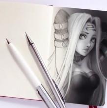 【视频】漂亮又性感的美女手绘线稿加PS简单上色全过程视频教程 手绘加板绘结