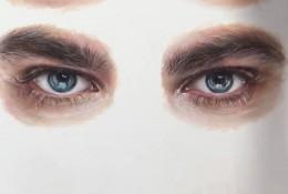 【视频】写实向男性眼睛的彩铅画法手绘视频教程 对着一只眼睛怎么画好另一