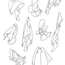 如何画出衣物布料的飘逸感 简单的布料褶皱的处理方法画法