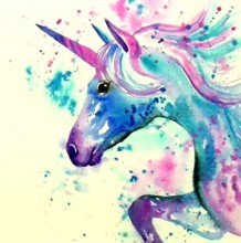 【视频】多彩靓丽的飞马独角兽水彩手绘视频教程 超好看的独角兽画法