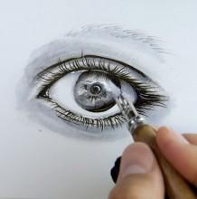 【视频】钢笔搭配马克笔画出超好看逼真的动漫眼睛手绘视频教程