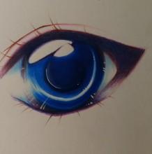 【视频】非常有光感的动漫人物眼睛上色技法 马克笔搭配彩铅画眼睛