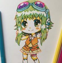 【视频】非常可爱的Q版动漫萌妹子水彩笔插画手绘视频教程