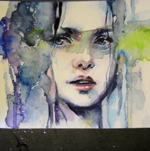 【视频】非常有美感有意境的写意水彩女生人物手绘视频教程