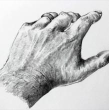 【视频】素描人物的手怎么画手绘视频教程 教你画手的铅笔素描画画法