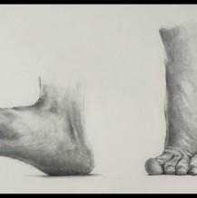 【视频】素描人物的脚的画法手绘视频教程 多个常见脚部素描画法演示