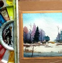 【视频】意境很好的唯美水彩森林树木手绘视频教程