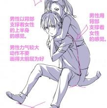 男女生从后面抱着背着姿势参考图 女生趴在男生背上 男生从后面抱着女生的姿