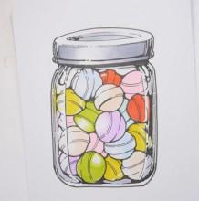 【视频】装在玻璃瓶里的糖果可爱小清新简笔画手绘视频教程