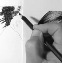 【视频】女生黑色长发素描质感手绘视频教程 教你画出柔顺好看的秀发 头发