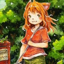 【视频】超可爱的小狐狸甜美女生水彩手绘视频教程 唯美画风树木做背景