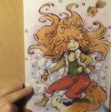 【视频】有点俏皮的小狐狸女生彩铅手绘视频教程 俏皮小狐妖彩铅画