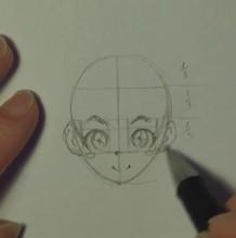 【视频】动漫新手教你画脸部五官的画法 最简单直接的动漫人物脸部画法教程