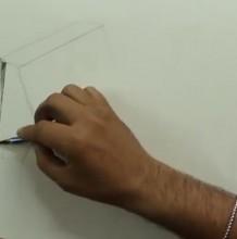 【素描】书籍卷纸罐子组合素描静物手绘视频教程 构图起形上调子过程