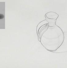 【视频】带把手的陶瓷罐子素描打形起形过程演示 陶罐素描手绘视频教程