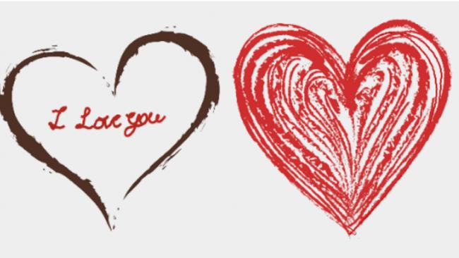 24款不同风格和造型的爱心画法各种好看的心形图案简笔画画法 图片 12p