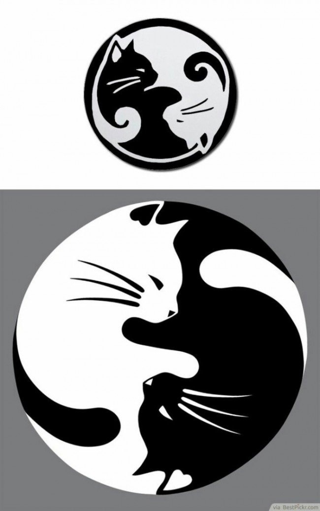 简单好看有趣的简笔画圆形图案 底纹黑白线稿素材_www.
