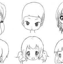 常见动漫画Q版人物脸型的画法与参考图片 方形三角形圆形椭圆形卡通脸型怎么