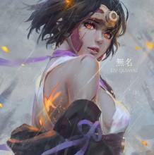 很美的女战士插画作品图片 女剑客,刀客,枪手插画
