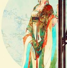 伊吹五月纯美中国古风人物插画作品欣赏 唯美古风武侠风人物插画图片