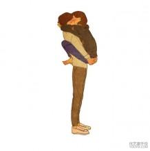 温馨又感人的情侣日常唯美插画图片 表现情侣爱情爱意的生活插画