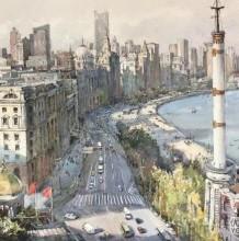 国人画师张安朴钢笔水彩画欣赏 优秀建筑风景钢笔水彩画图片